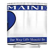 Maine State License Plate Shower Curtain