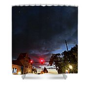 Maine Street Sunset  Shower Curtain