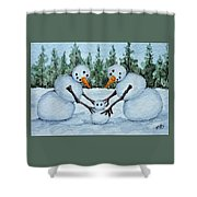 Making A Snowbaby Shower Curtain