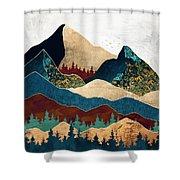 Malachite Mountains Shower Curtain