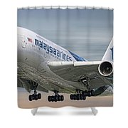 Malaysia Airlines Airbus A380-841 Shower Curtain