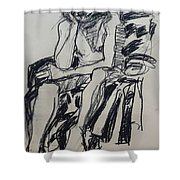 Male Nude I Shower Curtain