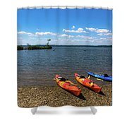 Mallows Bay And Kayaks Shower Curtain