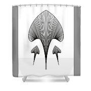 Mama Stingray And Babies Shower Curtain