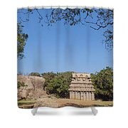 Mamallapuram, Ganesha Ratha Shower Curtain