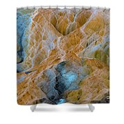 Mammoth Hot Springs Shower Curtain by Mae Wertz