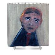 Man In A Black Shirt Shower Curtain