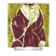 Man In A Crimson Hat Shower Curtain