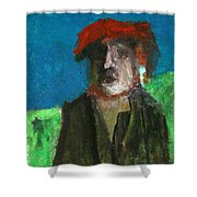 Man In A Red Hat Shower Curtain