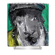 Man In A Scarf Shower Curtain