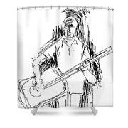 Man On Guitar Shower Curtain