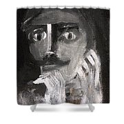 Man With A Handlebar Moustache Shower Curtain