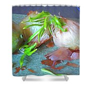 Mango And Two Onions Shower Curtain