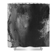 Manistee River Aerial Black And White Panorama Shower Curtain