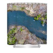 Manistee River From Above Shower Curtain