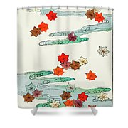 Maple Leaf - Japanese Traditional Pattern Design Shower Curtain