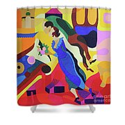 Marc And Bella Chagall Shower Curtain