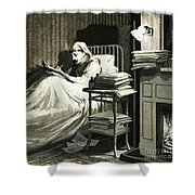 Marcel Proust Sat In Bed Writing Remembrance Of Things Past Shower Curtain
