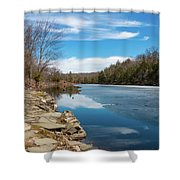 March Morning At Sanctuary Pond Shower Curtain