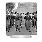Marchers And Convent Members Shower Curtain