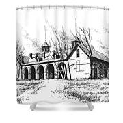Marcus Daly Tammany Barn Hamilton Montana Shower Curtain