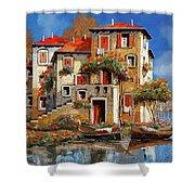 Mareblu-tetti Rossi Shower Curtain