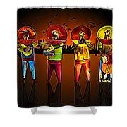 Mariachis Shower Curtain by Paul Wear