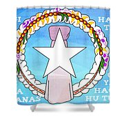 Marianas Anthem Shower Curtain by Michelle Dallocchio