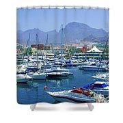 Marina Of Costa Adeje Shower Curtain