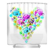 Marine Love Shower Curtain