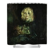 Marion With Cat Shower Curtain