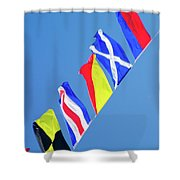 Maritime Signal Flags Shower Curtain