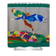 Mark And Bella Chagall Above The City Shower Curtain