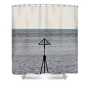Marker Shower Curtain