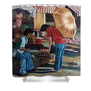 Market Scene Divisoria Shower Curtain