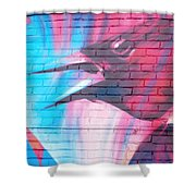 Maroon Blackbird Shower Curtain