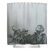 Martyrs' Square Statue-beirut Shower Curtain