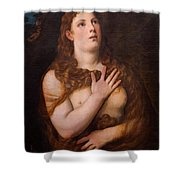 Mary Magdalene Repentant Shower Curtain