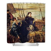 Mary, Queen Of Scots - The Farewell To France, 1867  Shower Curtain