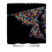 Maryland Map - 2 Shower Curtain