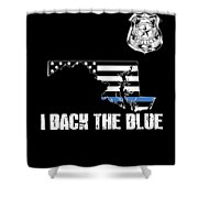Maryland Police Appreciation Thin Blue Line I Back The Blue Shower Curtain