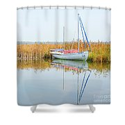 Masovian Lake Shower Curtain