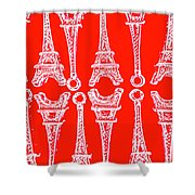 Match Made In Paris Shower Curtain