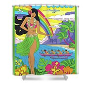Maui Poster - Pop Art - Travel Shower Curtain