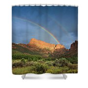 Maxwell Canyon Rainbow Shower Curtain