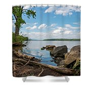 May Afternoon On The Hudson Shower Curtain