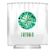 May Birthstone - Emerald Shower Curtain