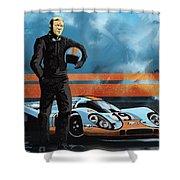 Mc Queen 917 Shower Curtain by Sassan Filsoof