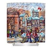 Mcgill University Roddick Gates Original Painting For Sale Hoockey Art C Spandau Canadian City Scene Shower Curtain