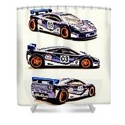 Mclaren F1 Gtr Shower Curtain